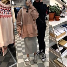 ✨p i n @ aqadri✨ Casual Hijab Outfit, Ootd Hijab, Hijab Chic, Muslim Fashion, Modest Fashion, Fashion Outfits, Women's Fashion, Muslim Girls, Muslim Women