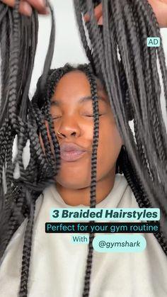Long Braids, Black Braids, Black Hair Tips, Gymnastics Hair, African American Braids, Short Afro, Gym Routine, Natural Hair Inspiration, Protective Styles