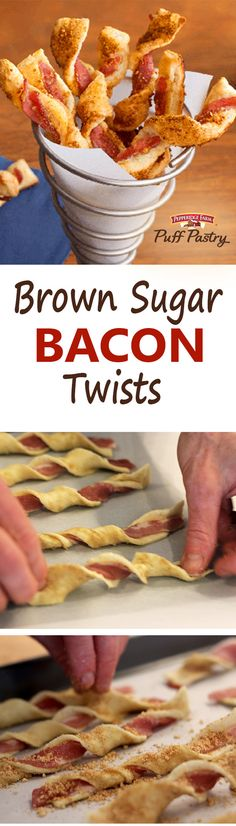 Bacon, Bacon, Bacon! You might be rooting for your favorite sports team…. we'll be over here eating bacon twists! This scrumptious Brown Sugar & Bacon Puff Pastry Twists recipe will score you extra points for sure! Layer Puff Pastry with brown sugar and bacon, twist, sprinkle with parmesan cheese & cayenne pepper, and bake until beautiful.  That's a touchdown in our book any day. You may want to make a double batch, this could go into extra innings!