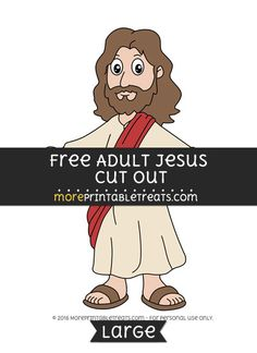 Free Adult Jesus Cut Out - Large