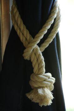 Nautical coton corde Rideau Tie Backs (c'est pour une paire)