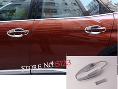 8pcs/set ABS Exterior Door Handle Bowl Decoration Cover Trim Accessories Car Styling For Peugeot 5008 2017