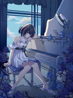 Seele Vollerei, Honkai Impact Honkai Impact 3 / and she - pixiv Manga Anime Girl, Sad Anime, Anime Girl Cute, Beautiful Anime Girl, Kawaii Anime Girl, Anime Fantasy, Fantasy Art, Anime Illustration, Anime Artwork