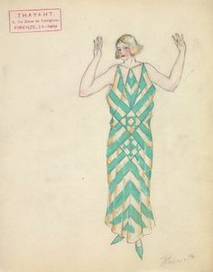> by Thayaht (born Ernest Michahelles), created for Madeleine Vionnet in the early 1920s.