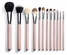 Sedona Lace- 12 Piece Professional Makeup Brushes - Pink