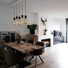 63 amazing farmhouse dining room decorating ideas 2019 page 17 Centralcheff.c Dining Room Ideas Amazing Centralcheffc Decorating Dining Farmhouse Ideas page Room Dining Room Design, Dining Room Table, Lamp Table, Dining Decor, Dining Table With Bench, Modern Decor, Modern Room, Modern Dinning Room Ideas, Modern Dining Rooms