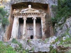 Lycian tombs, some of the most spectacular remnants of the ancient Lycian civilization in what is now modern day Turkey. Lycia as an independent civilization was swallowed up by the Romans, much like the other great Mediterranean civilizations.