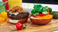 Dish Do-Over: Caramelized Onion & Cheddar Pub Burgers by Chef Jo Lusted
