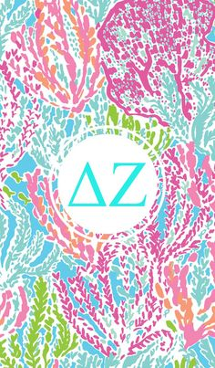 Delta Zeta Glitter Iphone Monogram Background Sorority