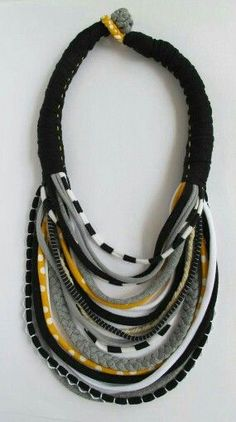 Pin by Eleonora Quintero L on Trapillo | Pinterest | Fabric jewelry, Textile jewelry and Scarves