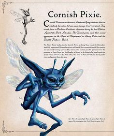 Mesmerizing image throughout printable cornish pixies