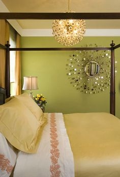 Johnny Lowe posted grey walls and aqua - for the bedroom color options, etc to his -For the bedroom- postboard via the Juxtapost bookmarklet. Yellow Bedding, Dreams Beds, Dream Apartment, Apartment Ideas, Grey Walls, Bedroom Colors, My Dream Home, Luxury Bedding, Apartment Therapy