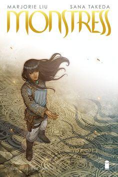 'Monstress' #1 2nd Printing Cover Art by Sana Takeda