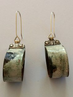 Unique enamelled earrings Mandy Flood