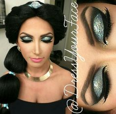 Princess Jasmine #dressyourface #makeup #glitter