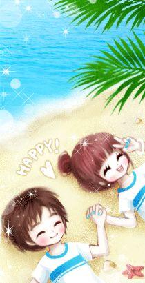 Cute Cartoon Images, Cute Couple Cartoon, Cute Love Images, Cute Love Gif, Cartoon Gifs, Anime Love Couple, Couple Art, Wallpaper Tumblr Lockscreen, Wallpaper Backgrounds