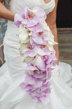 Cascading orchids #wedding #bouquet ~ Photography: Sarah Elizabeth // Floral Design: Planet Flowers ~ see more: http://www.bellethemagazine.com/2013/12/12-stunning-wedding-bouquets-part-24.html
