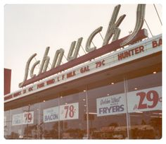 """Schnucks..Once known as """"The freindliest stores in town""""........(That was in their advertising)  R"""