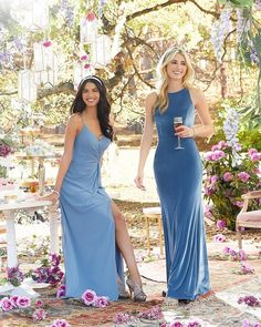Are you thinking about a blue I Do crew? by is gorgeous with these two new designs and in SLATE! Mori Lee Bridesmaid Dresses, Bridesmaids, Blue Dresses, Prom Dresses, Wedding Dresses, Morilee By Madeline Gardner, Prom Boutiques, Dressed To The Nines, Wedding Outfits