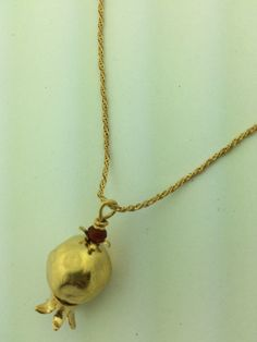 Grenade gold plated necklace by StefansJewelry on Etsy