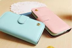 Women Wallet Flip Leather Stand Cover Case Skin Protector for iPhone 4 4S 5 | eBay