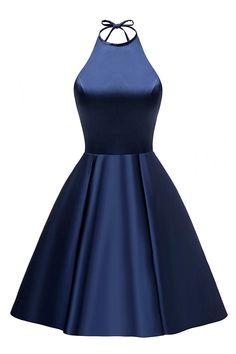 A-line Halter Short Prom Dresses Cocktail Dresses,PL5137 on Luulla