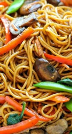 Dinner Recipes Easy Lo Mein ~ The easiest lo mein you will ever make in 15 min from start to fi. Healthy Dinner Recipes, Vegetarian Recipes, Cooking Recipes, Easy Chinese Recipes, Chinese Noodle Recipes, Homemade Chinese Food, Healthy Chinese, Chinese Desserts, Comida Latina