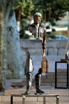 #Gallery - Google+ Van Gogh , Street Sculpture , missing pieces art by Bruno Catalano