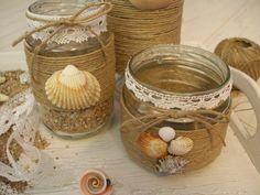 Seashell Projects, Seashell Crafts, Diy Bottle, Bottle Crafts, Mason Jar Crafts, Mason Jar Diy, Candle Making At Home, Home Crafts, Diy Crafts