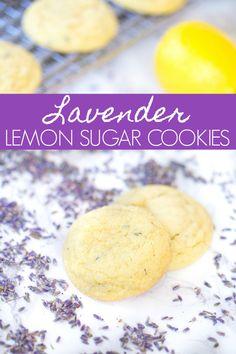 Megan's Recipe 🍪 Lavender Lemon Sugar Cookies via Lavender Cookie Recipe, Lavender Recipes, Lemon Recipes, Baking Recipes, Cookie Recipes, Dessert Recipes, Lemon Sugar Cookies, Sugar Cookies Recipe, Just Desserts