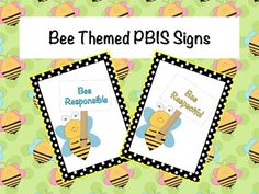 FREE - PBIS Signs (Bee Theme)