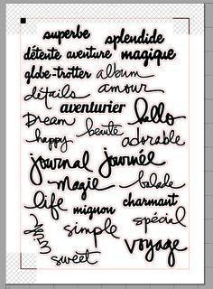 Vecto .sst V3: petits mots à glisser partout Silhouette Studio découpe Caméo Print and Cut