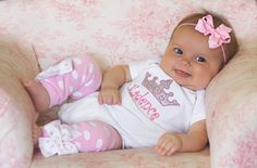Baby Girl Outfit   Princess Outfit   by DarlingLittleBowShop, $45.95