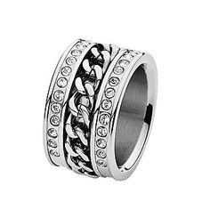 Ring steel swarovski / Dyrberg Kern