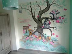 Disney Baby Rooms, Disney Nursery, Girl Nursery, Girl Room, Nursery Room, Wall Art Wallpaper, Mural Wall Art, Mural Painting, Baby Room Themes