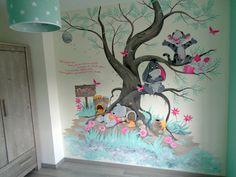 Babykamer muurschildering Winnie the Pooh