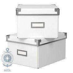 IKEA-KASSETT-Box-mit-Deckel-weiss-Aufbewahrungsbox-Aufbewahrung-21x26x15-2-Teile