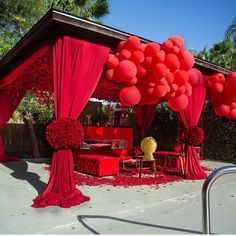 We ❤️Sharing your images. Don't forget to tag us your rentals. I spy our sexy red tuft lounge… Red Wedding, Wedding Events, Wedding Reception, Wedding Day, Balloon Decorations Party, Birthday Party Decorations, Wedding Decorations, Party Planning, Wedding Planning