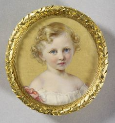 Gugliemo Faija, Prince Wilhelm of Prussia future Kaiser Wilhelm II 1861 Miniature Portraits, Miniature Paintings, German Royal Family, Queen Victoria Family, Wilhelm Ii, Royal Collection Trust, Young Prince, Rare Pictures, Paintings I Love
