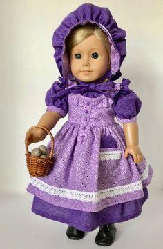 Dolls clothes crush plum gingham doll 30 cm