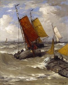 Hendrik Willem Mesdag (1831-1915), Return of the Fishing Boats, 1895