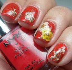 Colores de Carol: Born Pretty Store Dried Flowers Nail Art Review