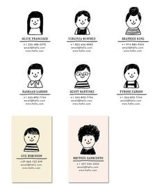 Maybe a child's drawing of my face? Business card The Small Object Notes Character Illustration, Graphic Design Illustration, Graphic Illustration, Business Card Maker, Business Card Design, Poster Design, Print Design, Web Design, Logo Design