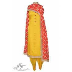 Elegant daffodil yellow complemented with heavy zari work dupatta-Mohan's the chic window Yellow Punjabi Suit, Punjabi Suit Simple, Yellow Kurti, Designer Punjabi Suits, Indian Designer Outfits, Salwar Kameez Simple, Heavy Dupatta, Suits For Women, Clothes For Women