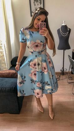 Swans Style is the top online fashion store for women. Shop sexy club dresses, jeans, shoes, bodysuits, skirts and more. Modest Clothing, Modest Dresses, Modest Outfits, Classy Outfits, Skirt Outfits, Modest Fashion, Cute Dresses, Vintage Dresses, Beautiful Dresses
