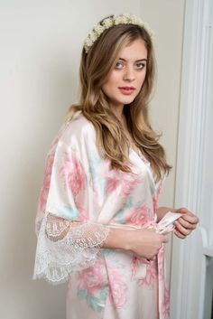 Australian brand Ivy & Matilda designs beautiful handmade silk, lace and cotton voile kimono robes. We specialise in bride and bridesmaid robes. Made in Australia, Worldwide shipping available. Bridesmaid Robes, Brides And Bridesmaids, Lace Overlay, Lace Trim, Silk Kimono Robe, Lace Silk, Bridal Collection, Store, Floral Tops