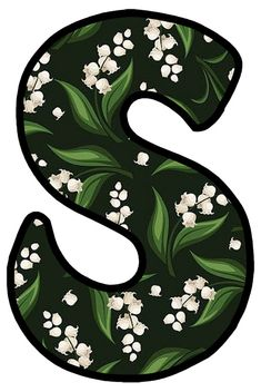 S Alphabet, Lily Of The Valley, Bubbles, Projects To Try, Typography, Monogram, Symbols, Calligraphy, Garden
