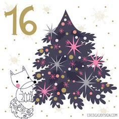 Christmas advent 16 © Gina Maldonado 2015 cocogigidesign.com #Christmas #folkart #birdhouse
