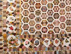 Detail of an English quilt in the collection of  the Metropolitan Museum of Art. - Love the blocks in the border...lovely detail!