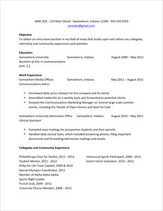 3 tips from the best resume samples available | interview & resume ... - First Job Resume Examples